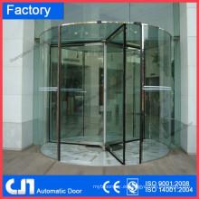 Puerta giratoria manual de vidrio