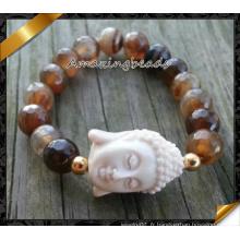 Bracelets en perles de porcelaine pour la fabrication de bijoux en gros (CB074)