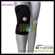 MSLKB02W Metal patella hinged knee brace/stabilizer knee brace