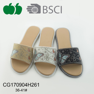 New Design Beautiful Summer Soft Plastic Slipper
