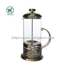 Théière en verre avec acier inoxydable (11 * 14 * 25)