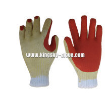 13G Polyester Liner Rough Finish Latex Arbeitshandschuh-5201