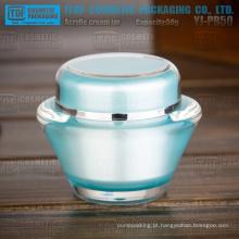 YJ-PB50 50g sem cor diferença dobro camadas U.F.O recipiente de exposição acrílica de forma