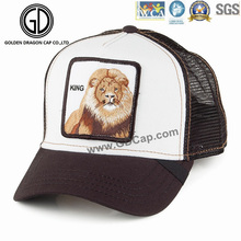 Wholesale Fashion Cap Lion Embroidery Badge Trucker Hat with Mesh