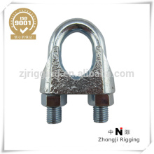 Malleable wire rope clamp with DIN741