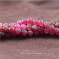 6 8 10 12mm Synthetic Mixed Color Watermelon Tourmaline Stone