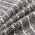 Стрип Twill Версия Шерстяная Ткань в Черном и Белом