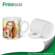 Alta calidad pequeño 6 oz blanca en blanco cerámica mugs para sublimación