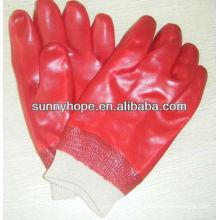 Strick-PVC-Tauchhandschuh für die Ölindustrie