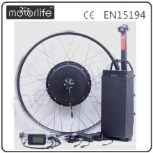 MOTORLIFE / OEM kit de conversão de bicicleta elétrica de roda traseira 1000W