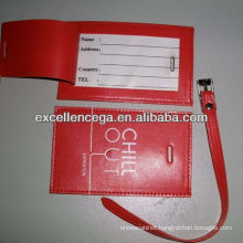 Cheap pvc leather luggage tag