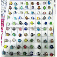 2013 new design glaze beads with mixed colors LS-135
