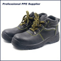 Cheap PU Injection Industrial Leather Steel Toe Safety Shoes