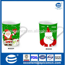 high quality and reasonable price 12oz porcelain cup with painting on ceramic mugs in shenzhen