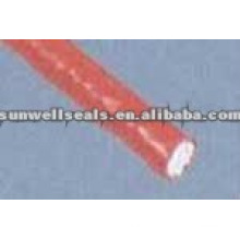 Glass Fiber Round Rope Coated with Silicone