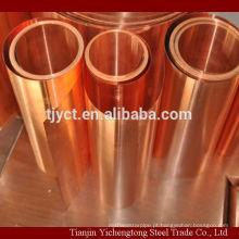 2mm de cobre vermelho folha de cobre preço por kg