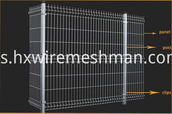 welded wire mesh fence drawing