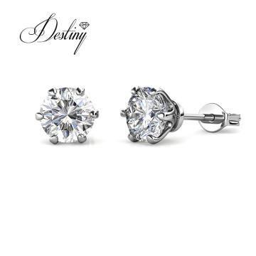 925 Sterling Silver 5mm Moissanite Diamond Stud Earrings for Women