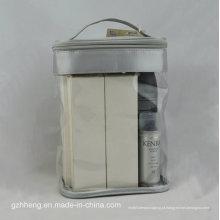 Saco de PVC macio personalizado com alça para maquiagem (embalagens de cosméticos)