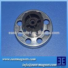 Imán de ferrita polos múltiples para refrigeración, ventilador de radiador / multi-polo anillo magnético fábrica