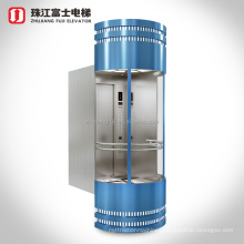 Top Quality Fuji Brand Customizing Observational Glass Passenger Elevator For Shopping Mall