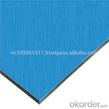 Alucobond Aluminum composite panel blue color design for wall