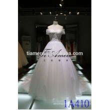 1A410 Elegant Lace Off Shoulder Crystal Yarn Wedding Dress Prom Dress 2016