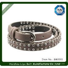 Cintos feitos à mão com strass em prata com fecho