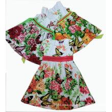 Vestido de fiesta de los niños de la mariposa en la ropa de los niños Sqd-101