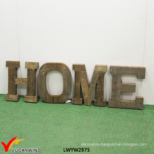 Antique Wooden Home Decoration Wall Hanging Letters