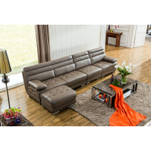L Shape Modern Leather Sofa, Home Furniture (M0415)