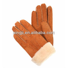real sheep fur glove for winter