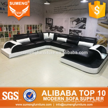 modern luxury french style living room furniture sofa set with LED light