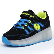 2106 Spring PU LED rodillo zapatos para niños, iluminación LED ruedas zapatos en Stock, Jinjiang zapatos fábrica para Wheelys Roller zapatos
