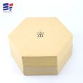 Kraft paper hexagonal gift box