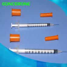 Одноразовые стерильные Инсулиновые шприцы с несъемными иглами