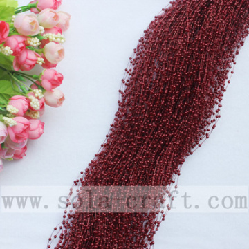Dark Red Popular Faux Pearl Tassel String Beaded Garland