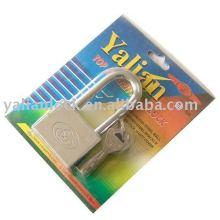 Nickel plated square padlock