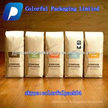 QUENTE! Saco de embalagem de café de papel Kraft colorido com válvula