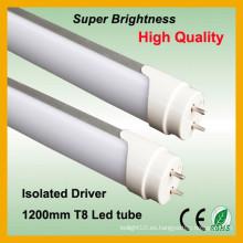 2014 bestselling leche blanco 1.2m t8 led tubo de luz