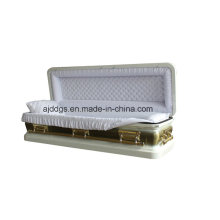 White Full Couch Coffin (16179044-F)