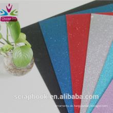2016 neue Glitzer Cardstock hohe Papierqualität farbige Glitzer Cardstock Papiere