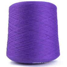 Fil 100% de tricotage de fil de cachemire direct d'usine avec la qualité de chandail fournisseur