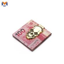 Pince à billets logo crâne personnalisé artisanat en métal