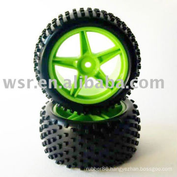 Rubber RC tire for racing car