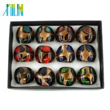 MC1001 Hot Design Wholesale Price On The Thumb Handmade Lampwork Glass Rings 12pcs/box