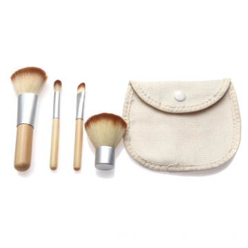Set de 4 pinceles de rubor para maquillaje Vegan Private Label