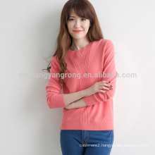 sexy crew neck computer knitted heavy warm women winter sweater
