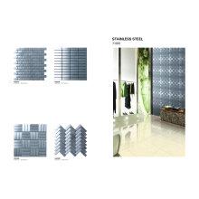 Mosaico de acero inoxidable con vidrio