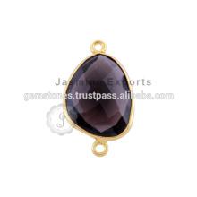 Vermeil Gold Gemstone Bezel Connectors Wholesale